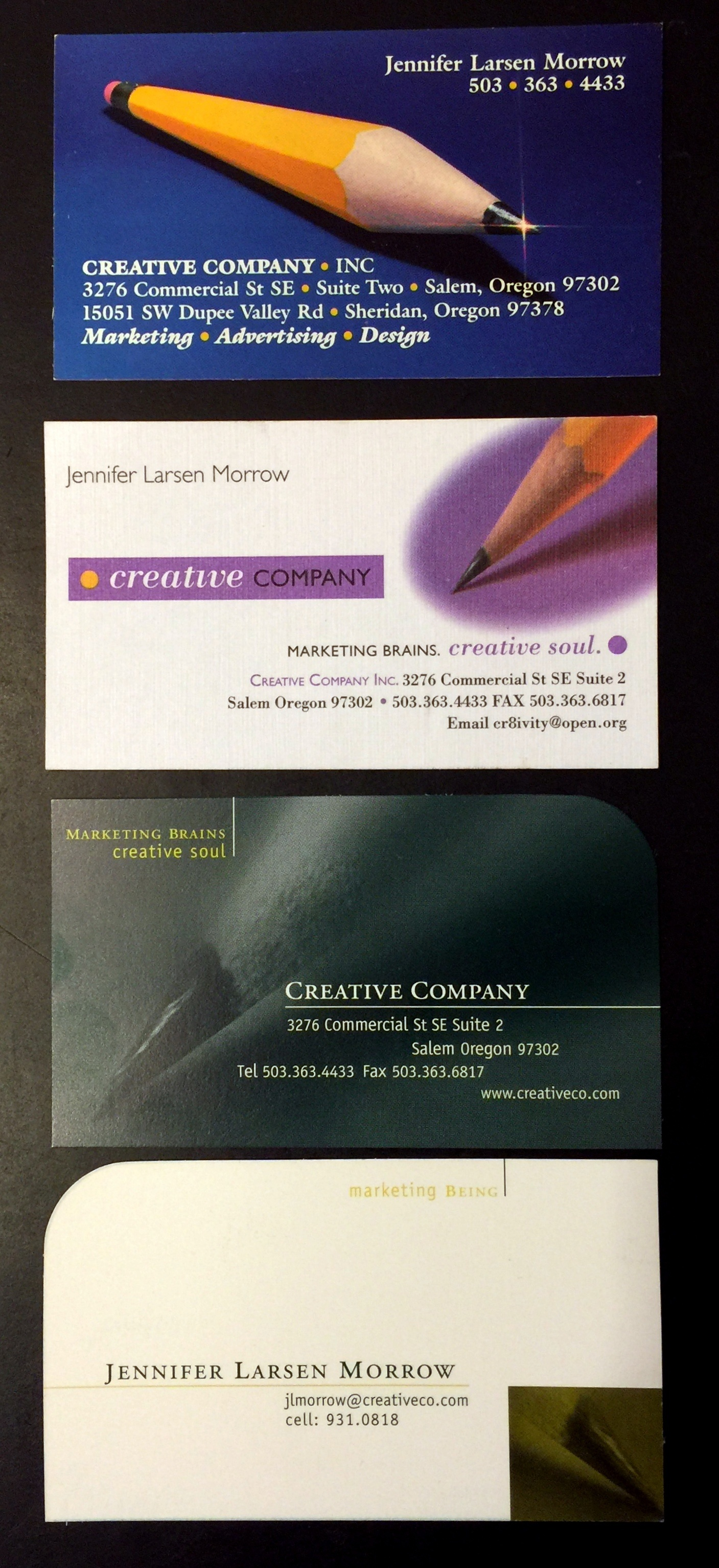 Oh how Creative Company has changed! Just look at the progression of our business cards.