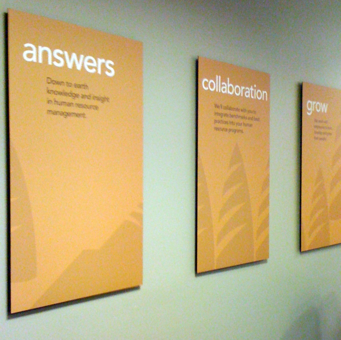 This nonprofit marketing brand refresh included posters displaying their key messages.