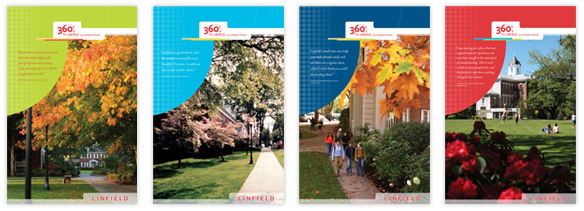 This brand refresh for Linfield reinvented their higher education marketing with a brochure series.
