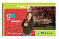 Brand refresh for Linfield reinvented their higher education and included promotional posters.