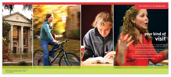 Brand refresh for Linfield reinvented their higher education and included a new mailer.