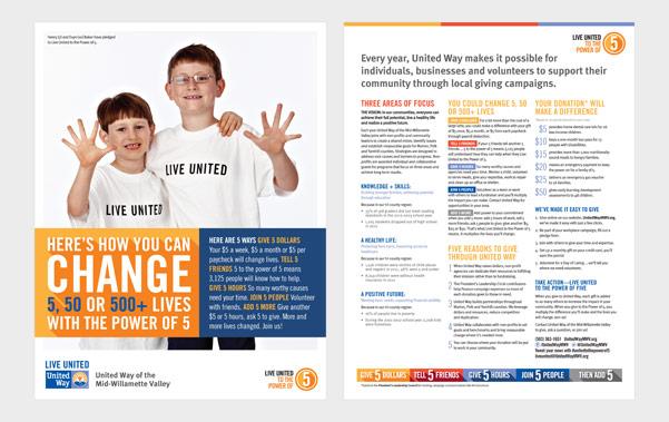 united way donor brochure