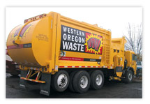 A rebrand and rename meant new fleet graphics for this garbage company.