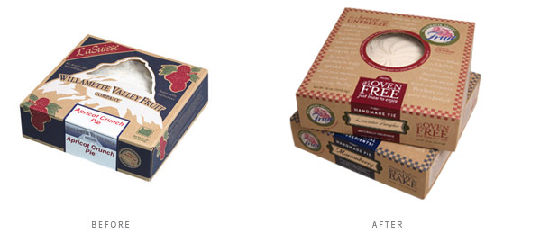 Clearly this new pie packaging is quite an update... Which would you choose?
