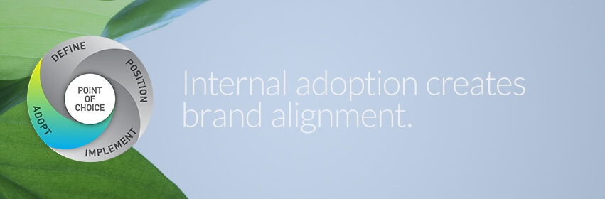Internal adoption, the brand lives through your people.