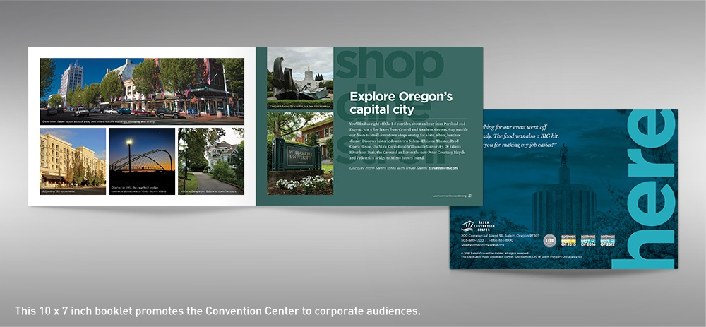 Salem Convention Center facility brochure back cover