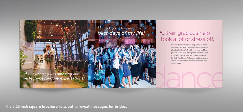 Salem Convention Center wedding brochure spread