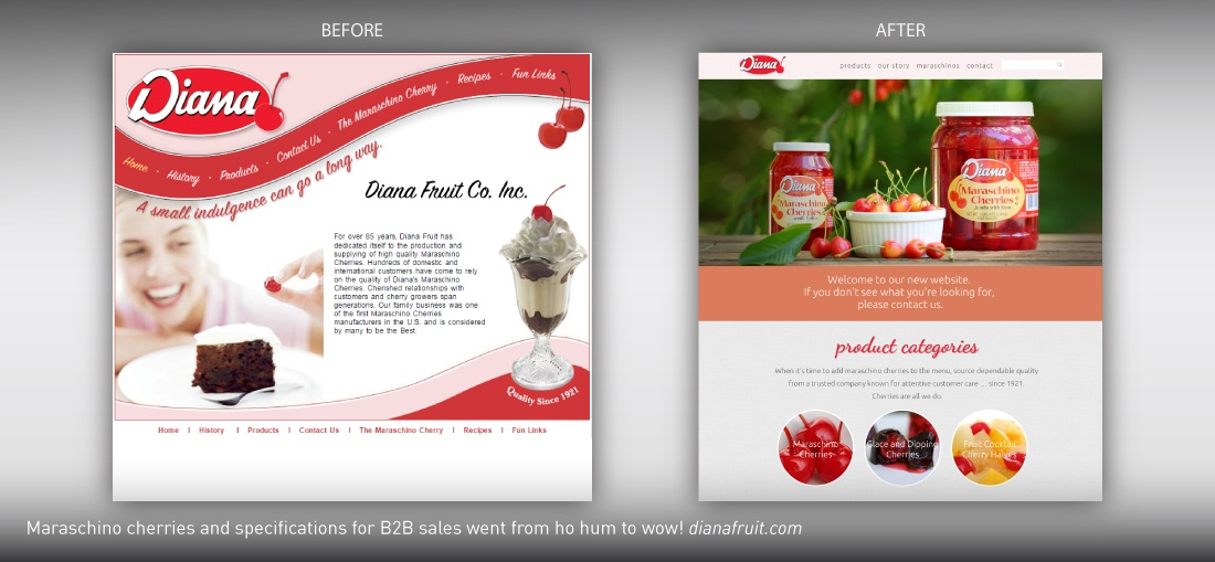 Diana Fruit website redesign
