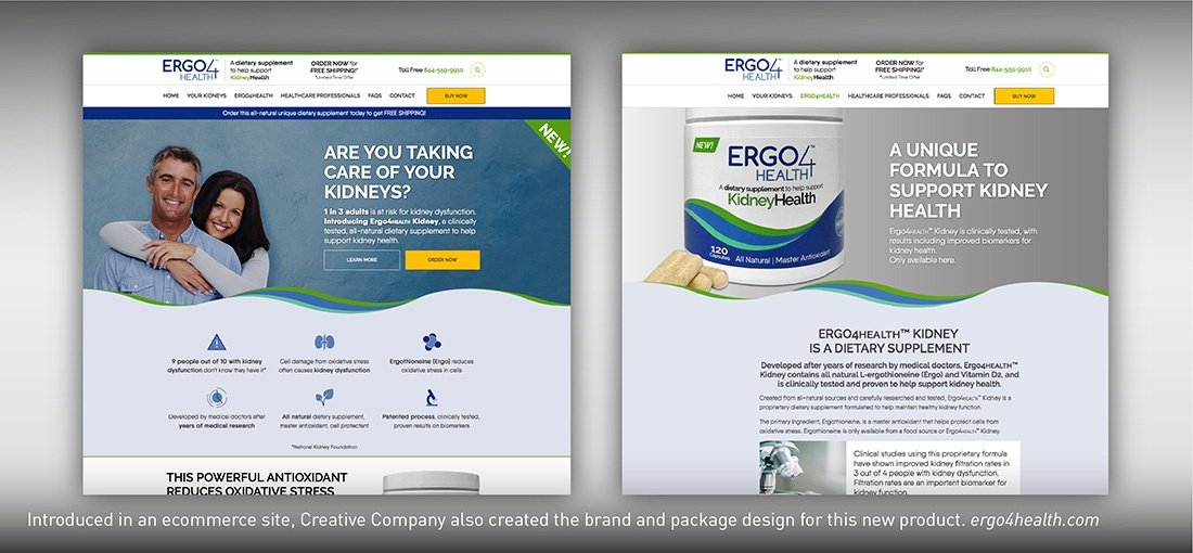 Ergo4health Kidney Health website