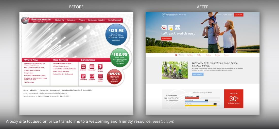 Potelco website redesign