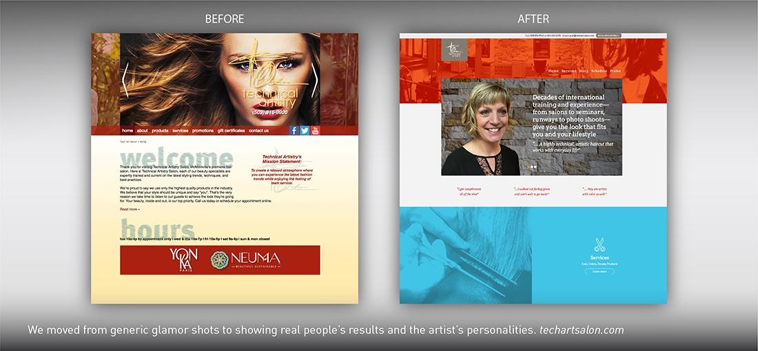 Technical Artistry Salon website redesign